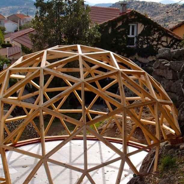 ¿Qué es un domo geodésico?